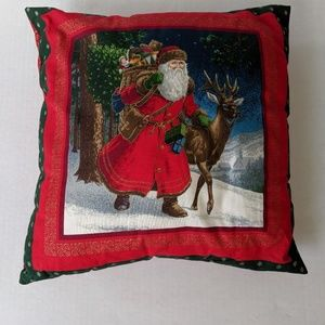 Christmas Santa Throw Pillow
